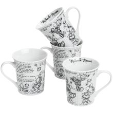 Disney Sketch Book Mugs - Set of 4 in Minnie - Overstock