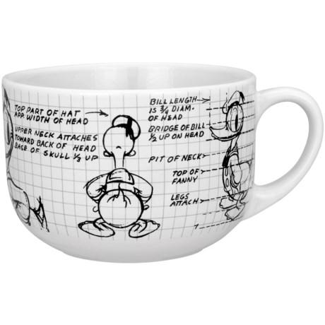 Disney Sketchbook 28 oz. Soup/Chili Mugs - Set of 4 in Donald