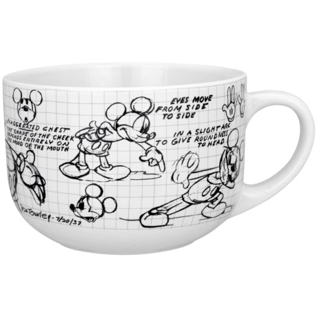 Disney Sketchbook 28 oz. Soup/Chili Mugs - Set of 4 in Minnie Mouse