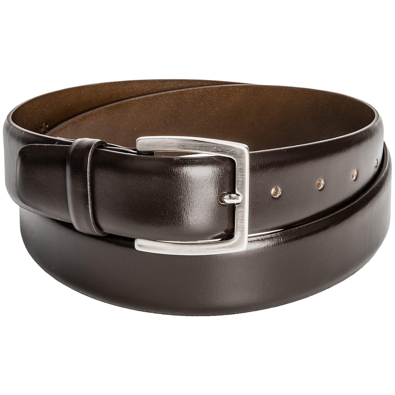 distefano calf leather belt italian metal buckle for