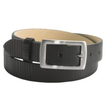 DiStefano Calfskin Leather Belt (For Men) in Black - Closeouts