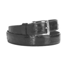 DiStefano Epoch Tanned Crocodile Belt (For Men) in Black - Closeouts