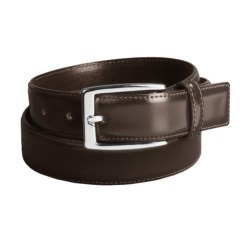 DiStefano Polished Dress Belt - Stitched, 30 mm in Brown