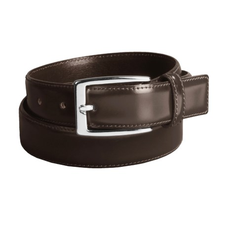 DiStefano Polished Dress Belt - Stitched, 30 mm in Black