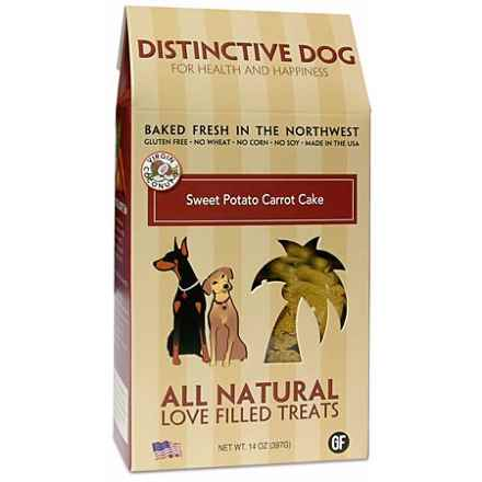 Distinctive Dog Baked Treats - 14 oz. in Sweet Potato Carrot Cake - Closeouts