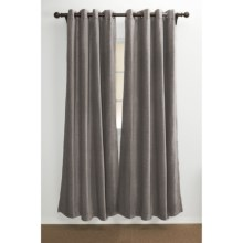"Distinctly Home Lindsay Chenille Curtains - 84"", Grommet-Top in Grey - Closeouts"