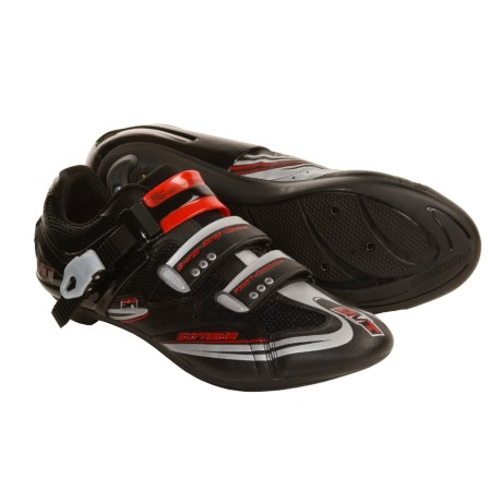DMT Evolution Road Cycling Shoes - 3-Hole (For Men) in Black/Red