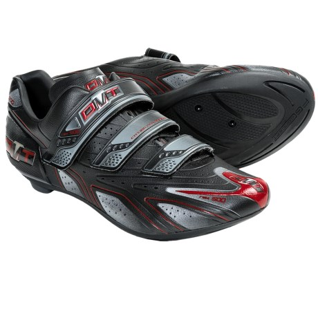 DMT Speed Road Cycling Shoes - 3-Hole (For Men) in Black/Red