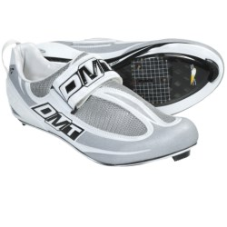 DMT Tri Road Cycling Shoes - 3-Hole (For Men) in White/Silver