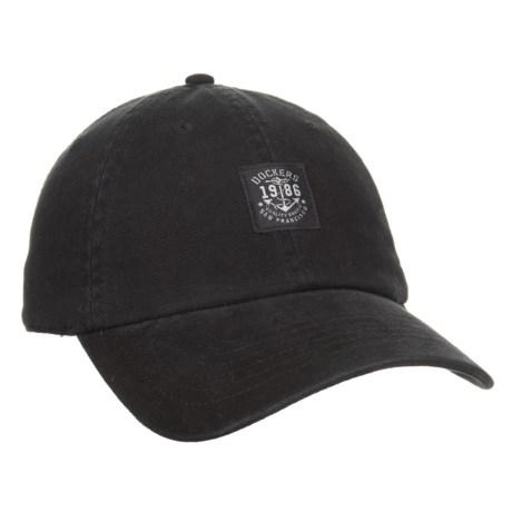 Dockers Brushed Twill Baseball Cap (For Men) in Black