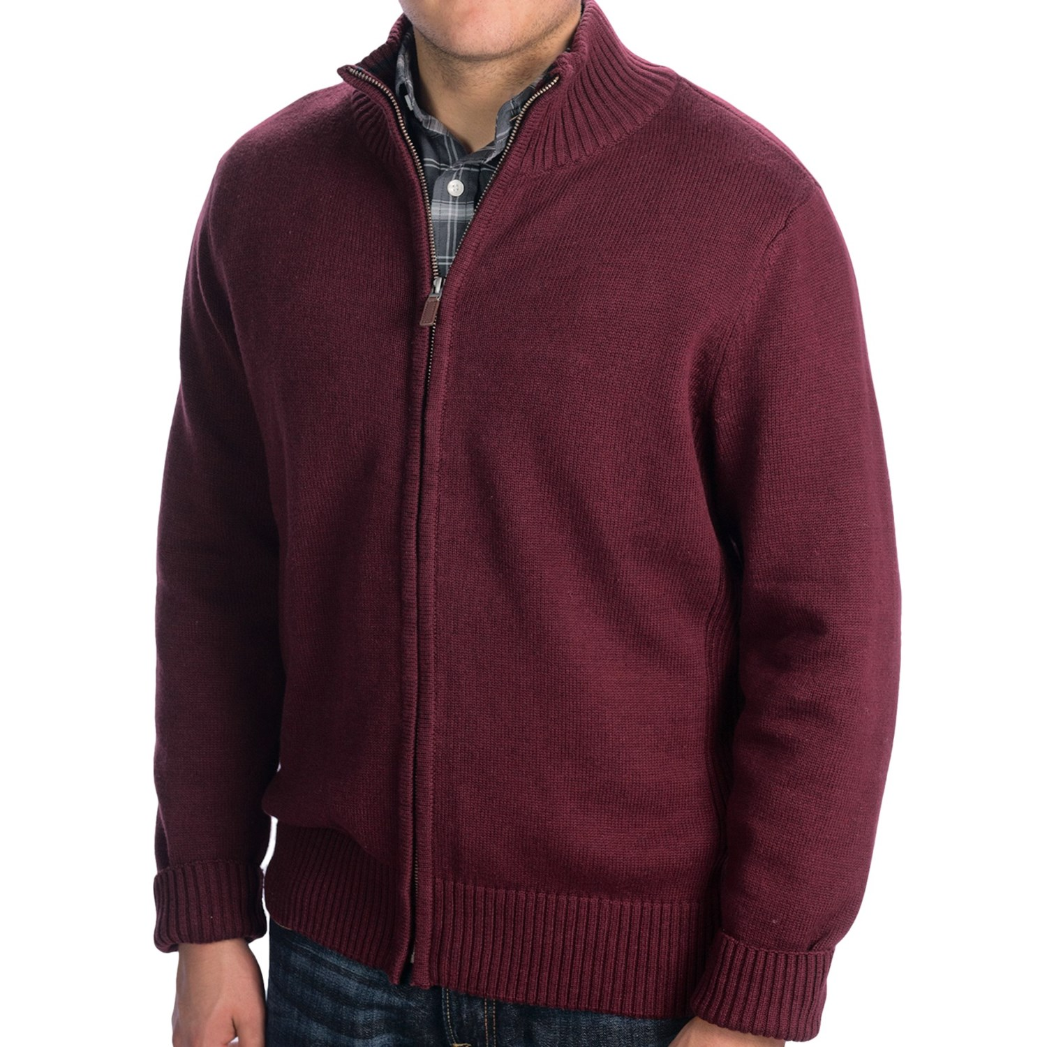 Mens Zip Cardigan Sweater 68