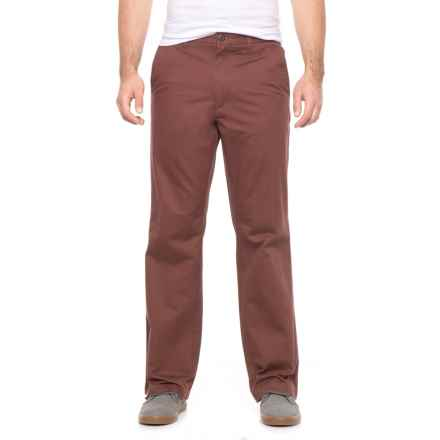 Dockers Flat Front Classic Pants (For Men) in Maroon - 2nds