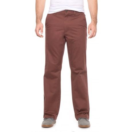 Dockers Flat Front Classic Pants (For Men) in Maroon