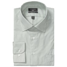 Dockers Iron-Free Smith Stripe Shirt - Classic Fit, Long Sleeve (For Men) in White/Green - Closeouts