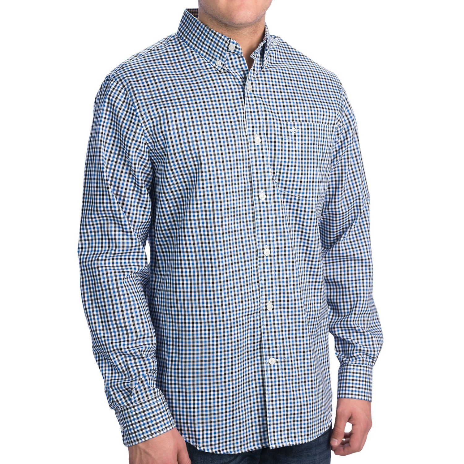 Dockers no wrinkle check shirt long sleeve for men for Dockers wrinkle free shirts