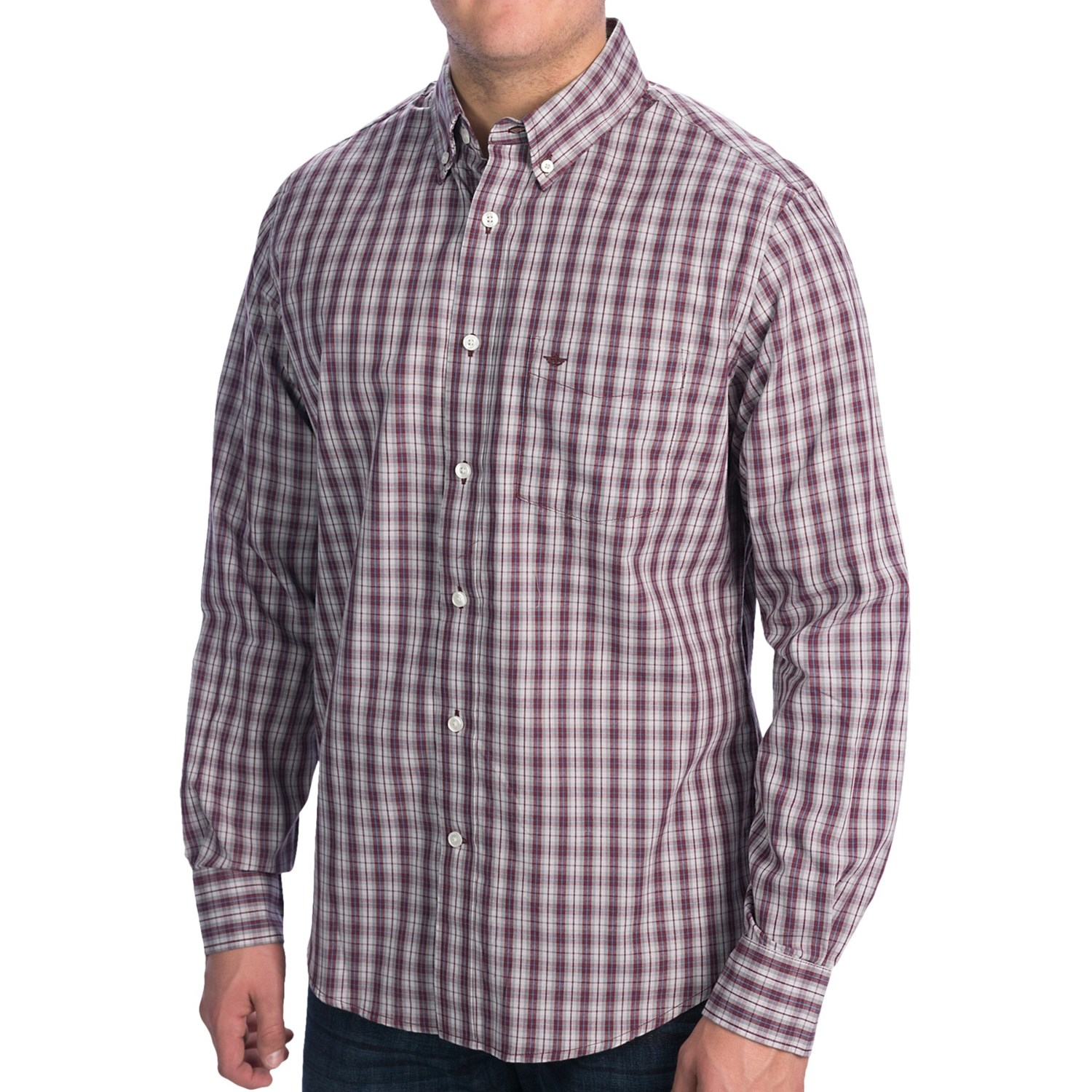 Dockers no wrinkle plaid shirt long sleeve for men for Dockers wrinkle free shirts