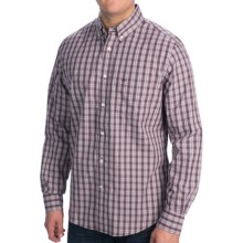 Dockers No Wrinkle Plaid Shirt - Long Sleeve (For Men) in Cement - Closeouts