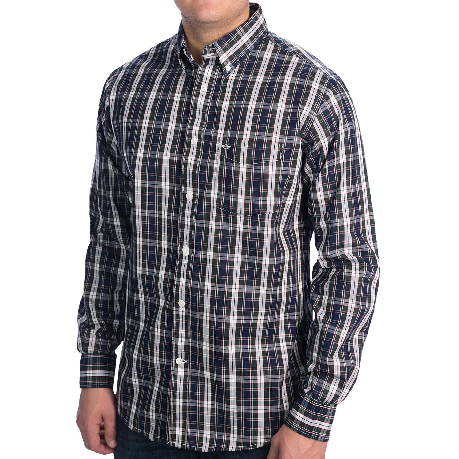 Dockers soft no wrinkle check shirt long sleeve for men for Dockers wrinkle free shirts