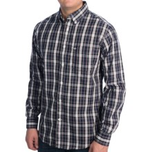 Dockers Soft No Wrinkle Check Shirt - Long Sleeve (For Men) in Sea Captain Blue - Closeouts
