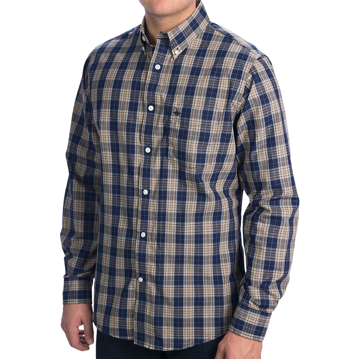 Dockers soft no wrinkle plaid shirt long sleeve for men for Dockers wrinkle free shirts