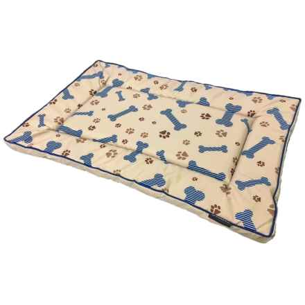 """Dog for Dog Animal Print Crate Mat - 40x26"""" in Taupe - Closeouts"""