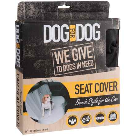 "Dog for Dog Bench-Style Seat Cover - 56x47"" in Black - Closeouts"