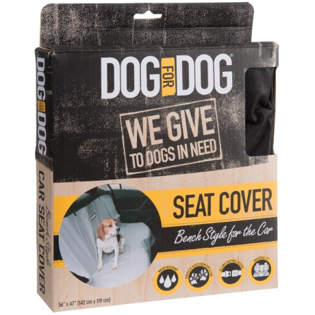 "Dog for Dog Bench-Style Seat Cover - 56x47"" in Black"