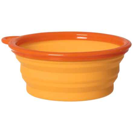 Dog for Dog Collapsible Bowl - 12 oz. in Orange - Closeouts