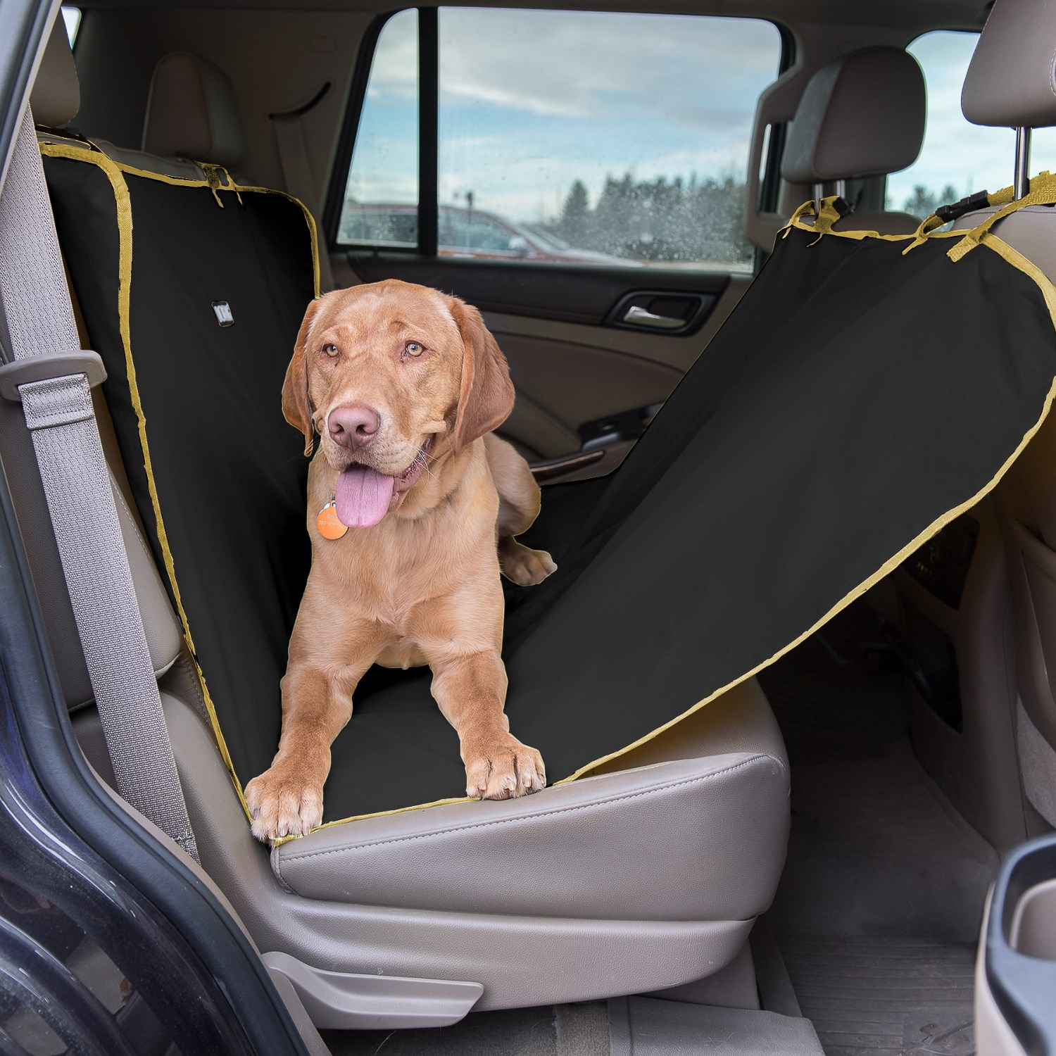 dog wag grey hammock back car dogs products seat