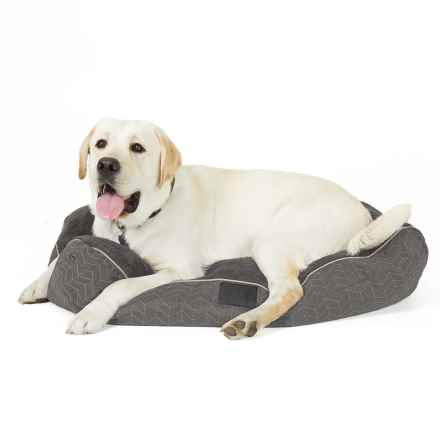 """Dog For Dog Popcorn Gusset Bed - 36x27"""" in Gray - Closeouts"""