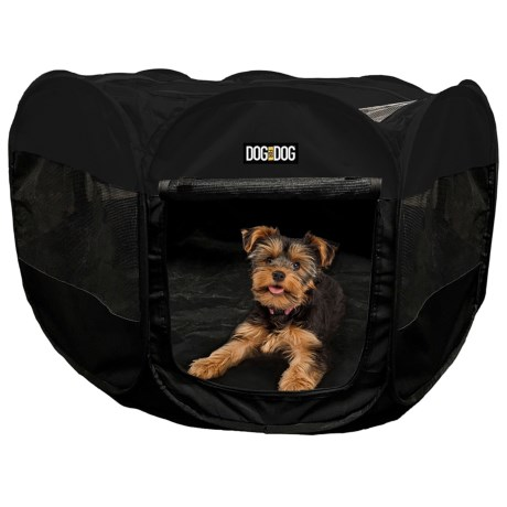Dog For Dog Portable Pet Playpen   36x36x23u201d In Black