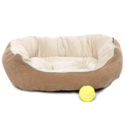 """Dog for Dog Round Grid Cuddler Dog Bed - 24"""" in Taupe - Closeouts"""