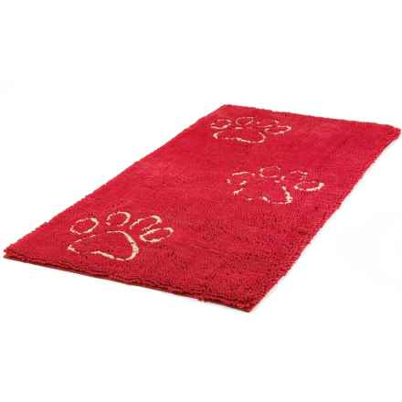 """Dog Gone Smart Dirty Dog Doormat Runner - 30x60"""" in Maroon - Closeouts"""