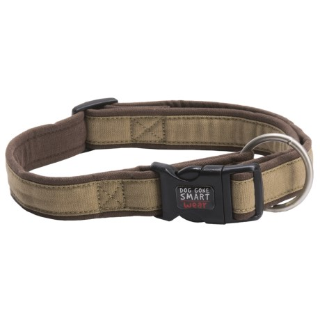 "Dog Gone Smart Wear 5/8"" Dog Collar in Khaki/Brown"