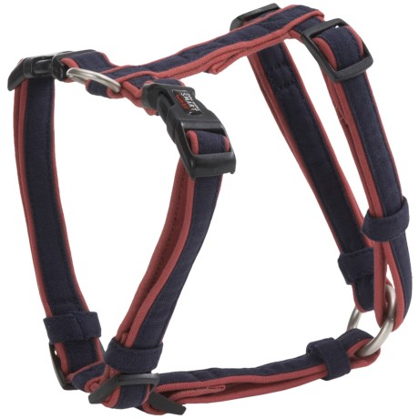 "Dog Gone Smart Wear Dog Harness - 3/4"" in Navy/Red"