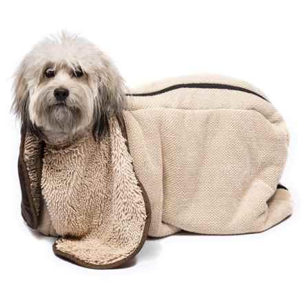 Dog Gone Smart Zip-N-Dri Dog Towel in Khaki - Closeouts