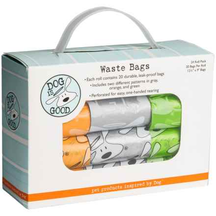 Dog is Good Dog Waste Bags - 24-Pack in See Photo - Closeouts
