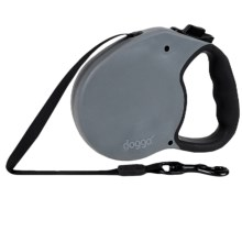 Doggo Everyday Retractable Dog Leash - Large in Grey - Closeouts