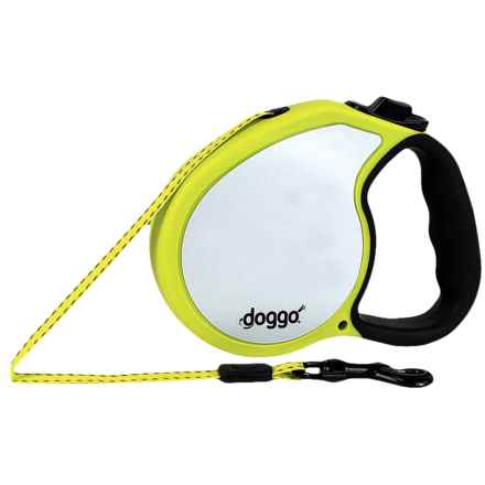 Doggo Everyday Retractable Dog Leash - Medium in Reflective Neon Yellow - Closeouts