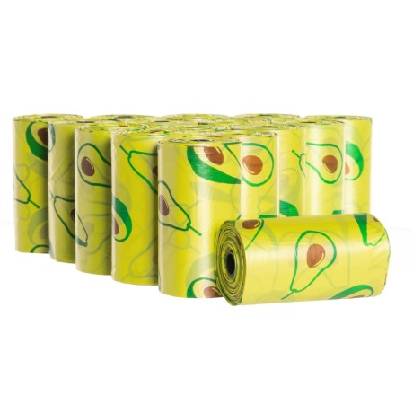 DOGHAUS Avocado Print Dog Waste Bags - 320-Count in Avocado
