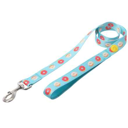 DOGHAUS Foodie Dog Leash - Donut Print in Donut - Closeouts