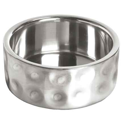 DOGHAUS Hammered Stainless Steel Pet Bowl - 24 oz. in Silver - Closeouts