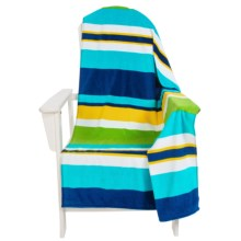 """Dohler USA Printed Beach Towel - Cotton Velour, 40x72"""" in Multi Stripes - Closeouts"""