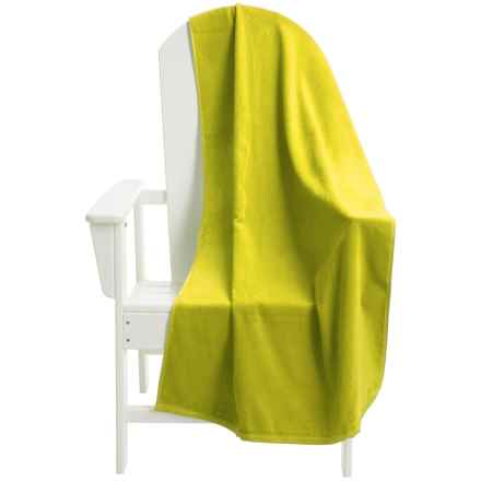 "Dohler USA Solid Beach Towel - Cotton Velour, 30x72"" in Neon Yellow - Overstock"