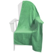 "Dohler USA Solid Beach Towel - Cotton Velour, 40x76"" in Jade - Closeouts"