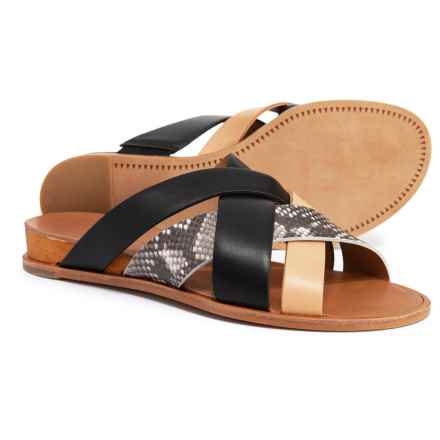Dolce Vita Perez X-Band Flat Wedge Sandals (For Women) in Black Multi - Closeouts