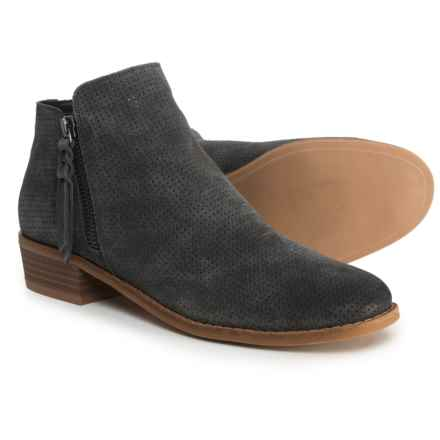 Dolce Vita Sady Perforated Ankle Booties - Suede (For Women) in Anthracite Suede - Closeouts