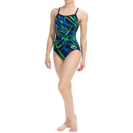 Dolfin Alpha Competition Swimsuit - Chloroban®, UPF 50+ (For Women) in Alpha Blue/Green - Closeouts