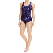 Dolfin Aquashape Aero Swimsuit - Built-In Bra (For Women) in Aero Purple - Closeouts