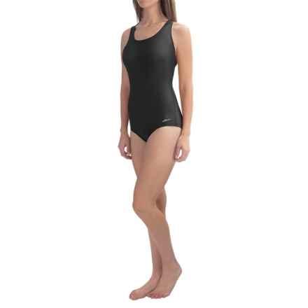 Dolfin Aquashape Conservative Lap Swimsuit (For Women) in Black - Closeouts
